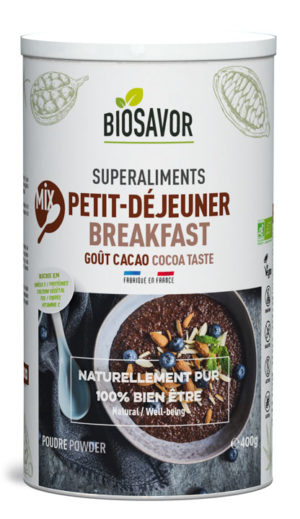 Le Mix Petit-déjeuner Bio saveur Cacao de chez BioSavor