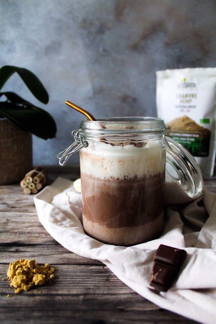 recette de smoothie banane chocolat chanvre biosavor