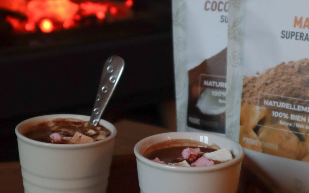 Chocolat chaud à la Maca et Sucre de coco