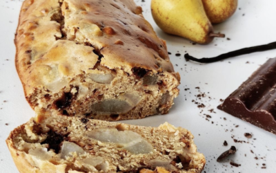 Cake Poire – Chocolat – Vanille au Sucre de Coco