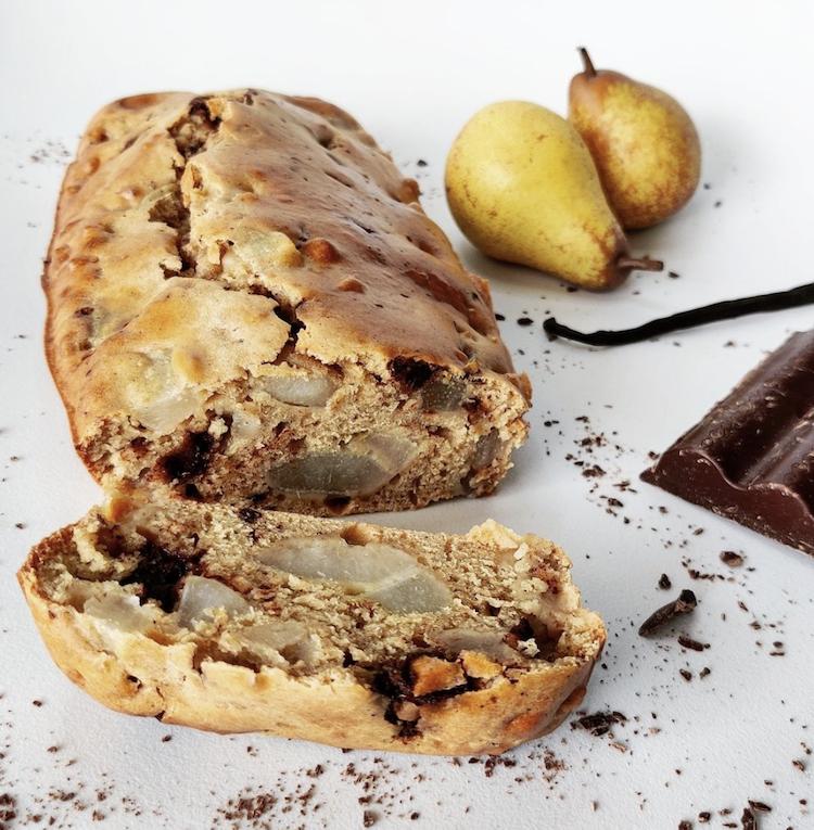 cake poire chocolat vanille réalisé par marie roudiere sur instagram