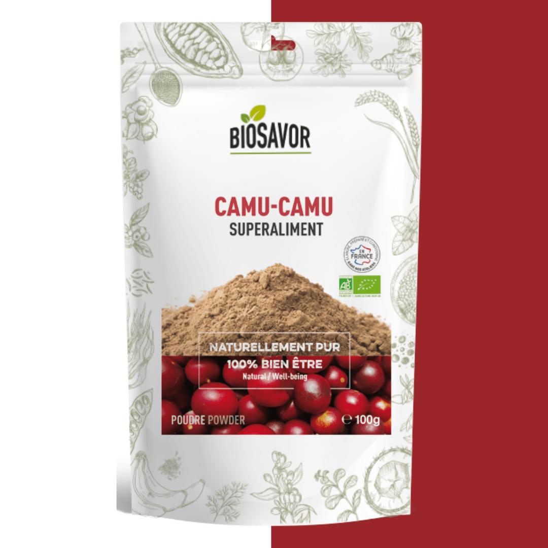 Le camu-camu en poudre Bio de la marque de superaliments française BioSavor