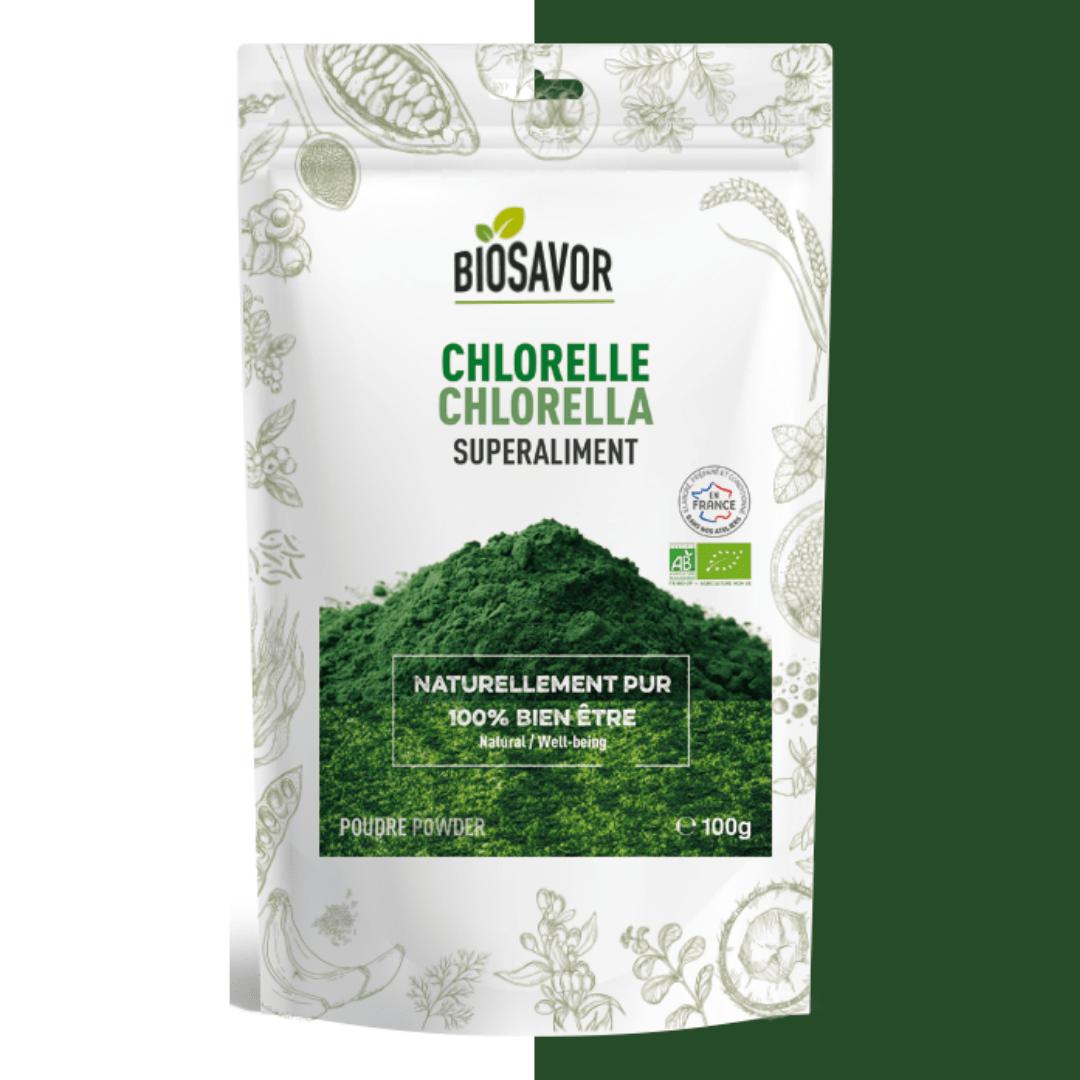 chlorelle en poudre bio de la marque biosavor