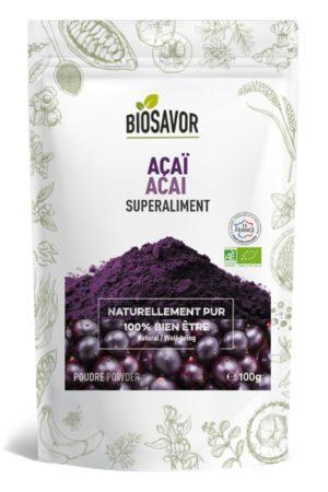L'açaï en poudre Bio de la marque de superaliments française BioSavor