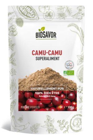 Le Camu-camu en poudre Bio de 100g de la marque de superaliments française BioSavor