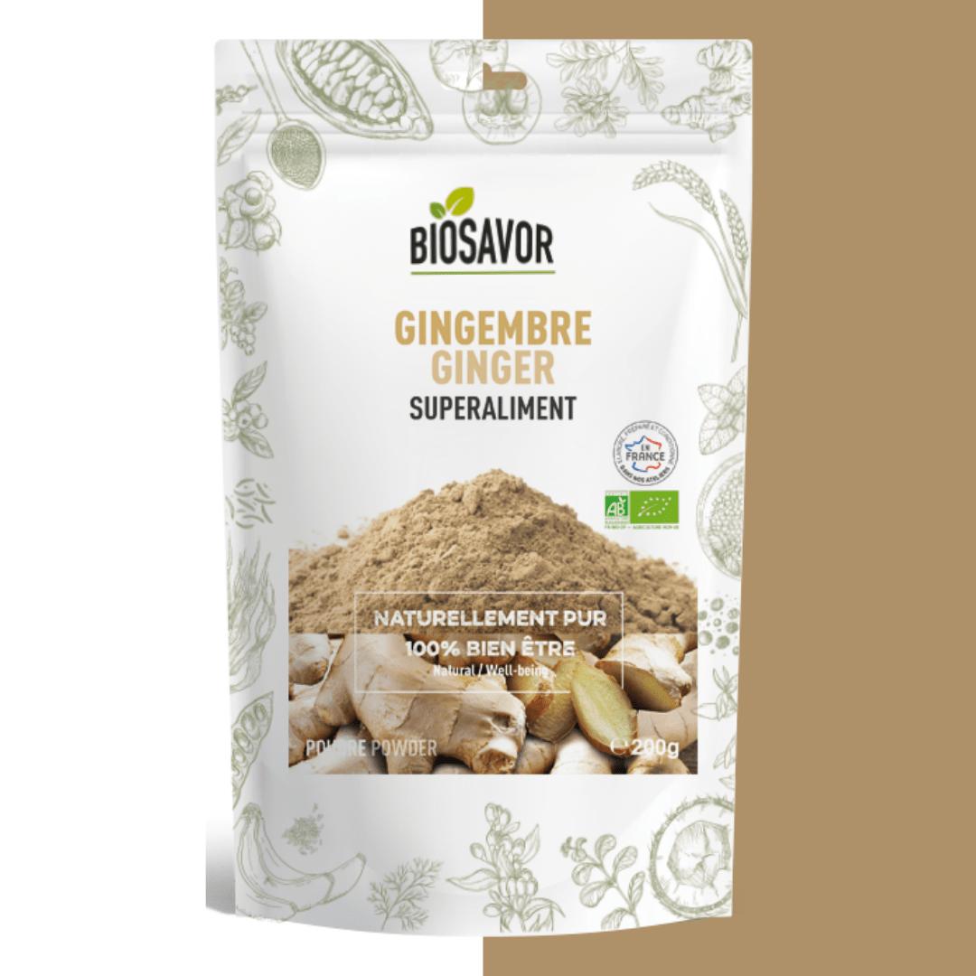 gingembre en poudre bio de notre marque biosavor