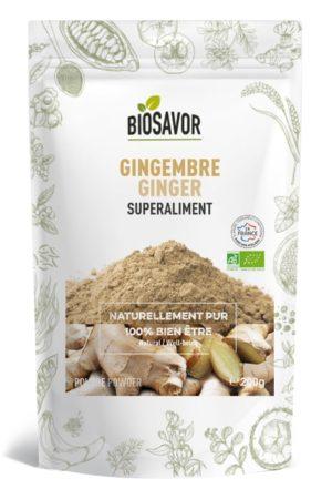 Le gingembre en poudre Bio de la marque de superaliments française BioSavor