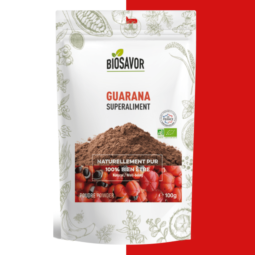 Guarana en poudre bio de la marque BioSavor