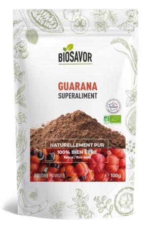 Le Guarana en poudre Bio de 100g de la marque de superaliments française BioSavor