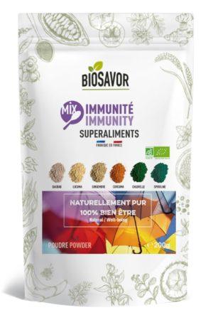 Le mix immunité en poudre Bio de 200g de la marque de superaliments française BioSavor