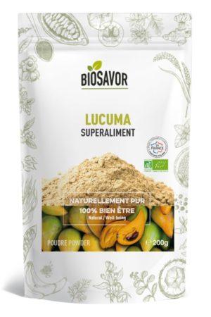Le lucuma en poudre Bio de 200g de la marque de superaliments française BioSavor