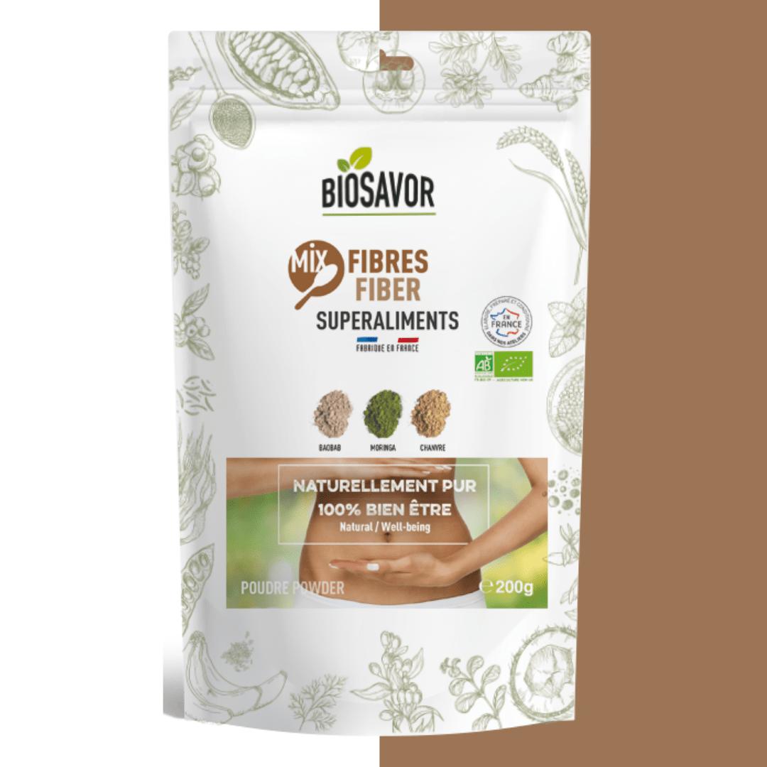 mix fibres en poudre bio de la marque biosavor