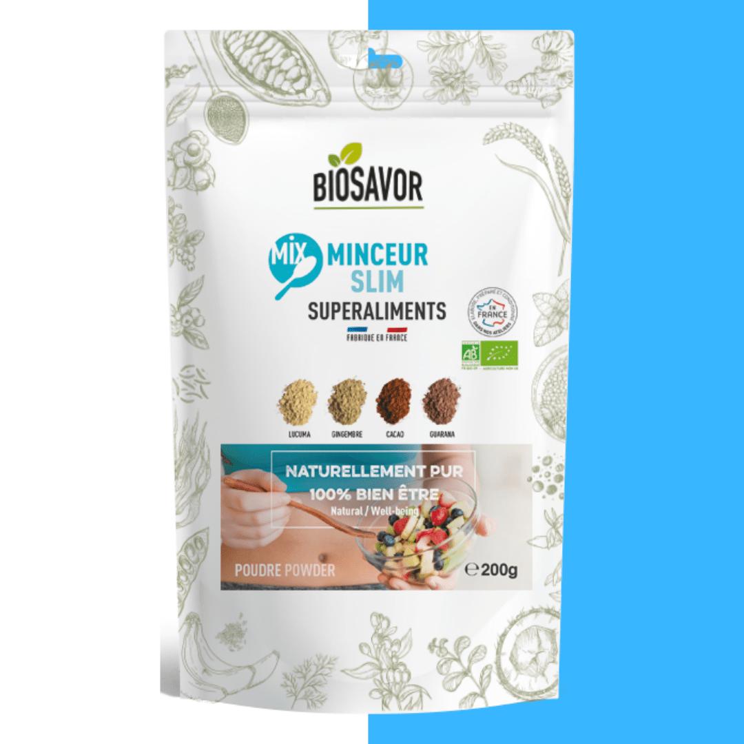 mix minceur en poudre bio de la marque biosavor