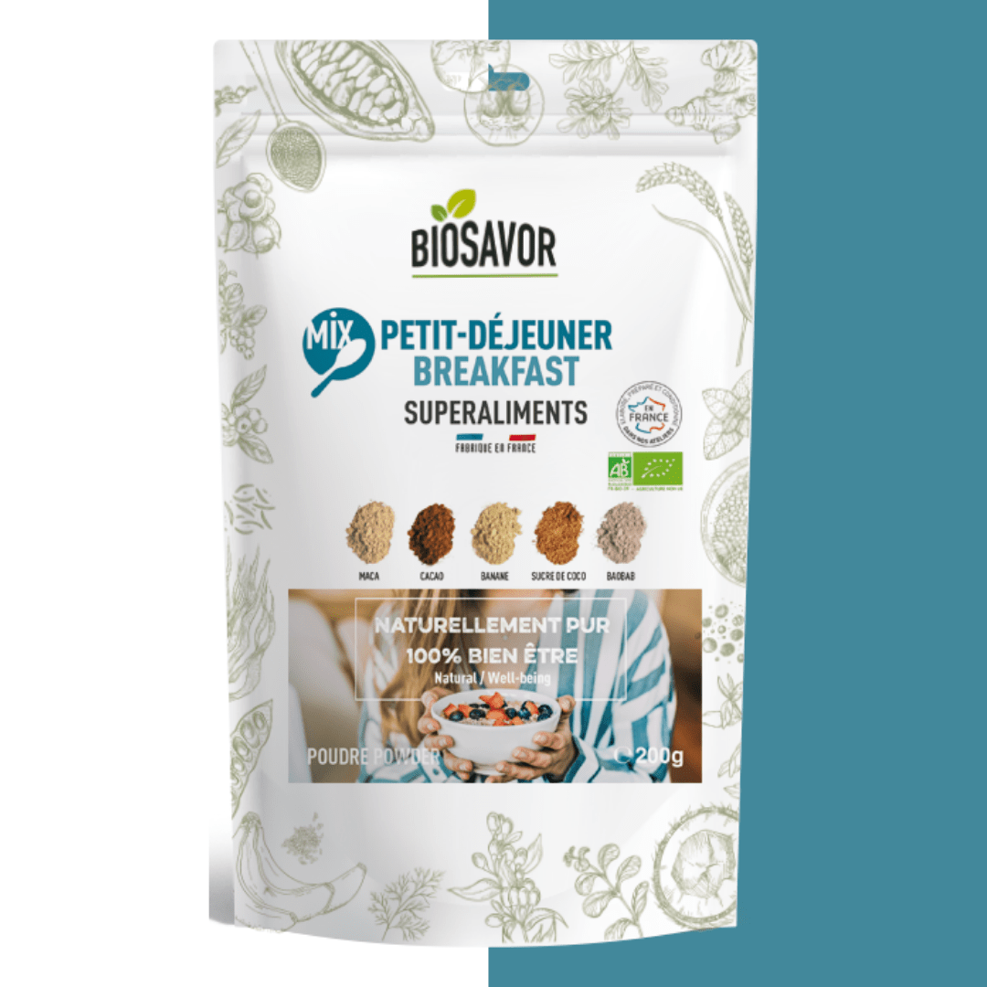 le mix breakfast en poudre de la marque biosavor