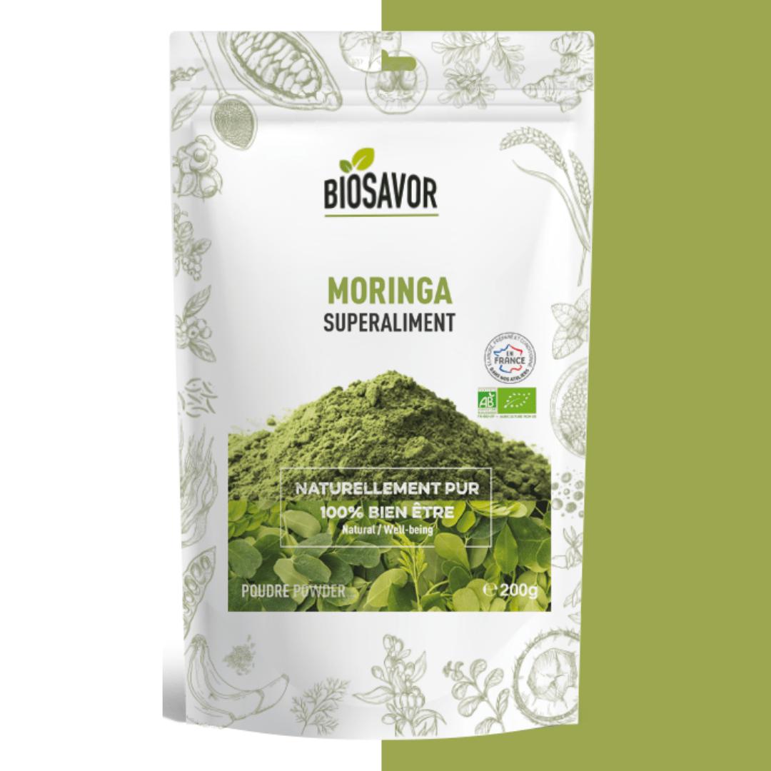 moringa en poudre bio de la marque biosavor