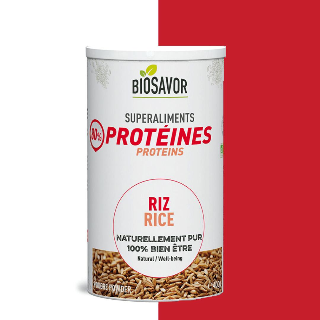 La protéine de riz en poudre Bio de la marque de superaliments française BioSavor