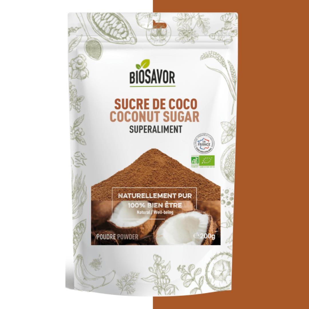 sucre de coco en poudre bio de la marque biosavor